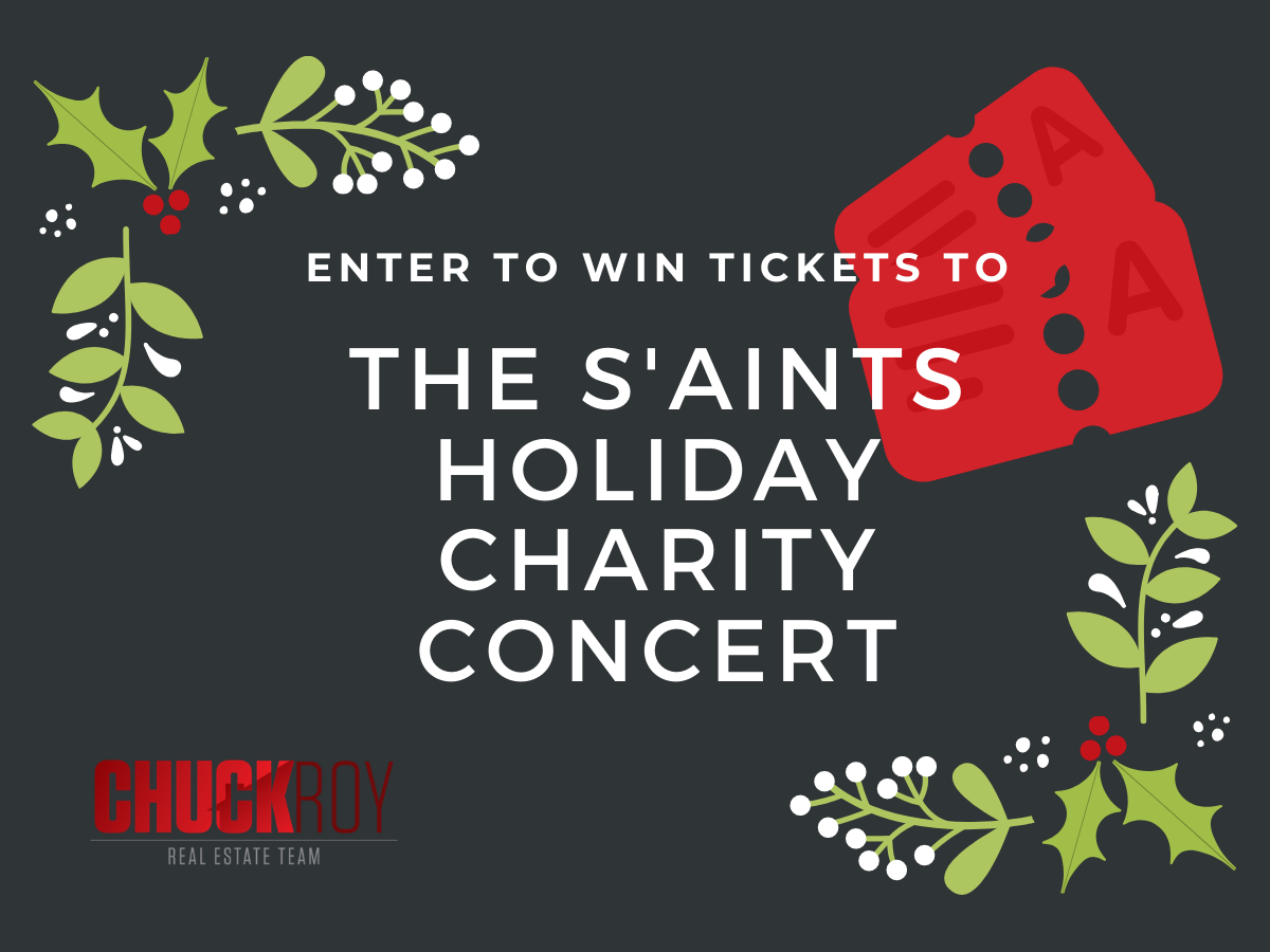 Congratulations to the winner of 4 tickets to The S'Aints Holiday Charity Concert!